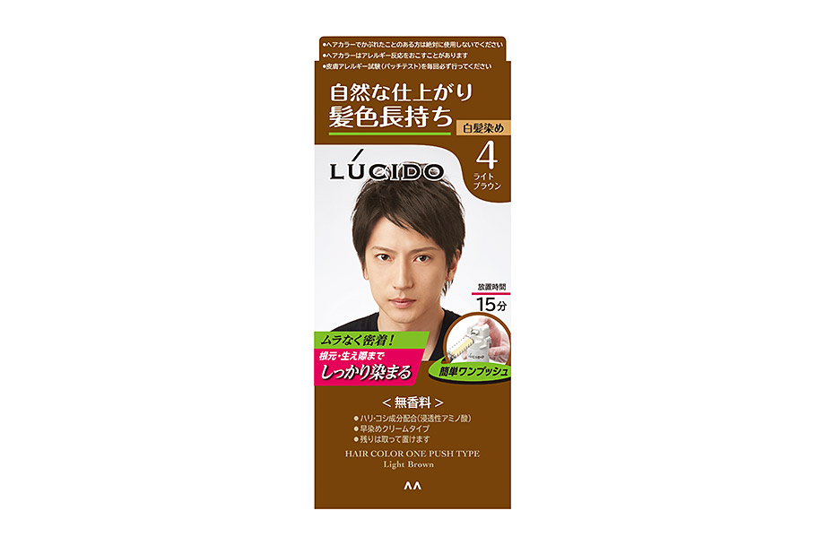 Hair Color One Push Type Light Brown  (Quasi-drug)