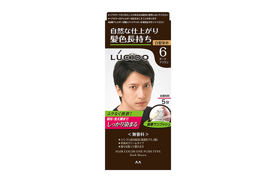 Hair Color One Push Type Dark Brown  (Quasi-drug)