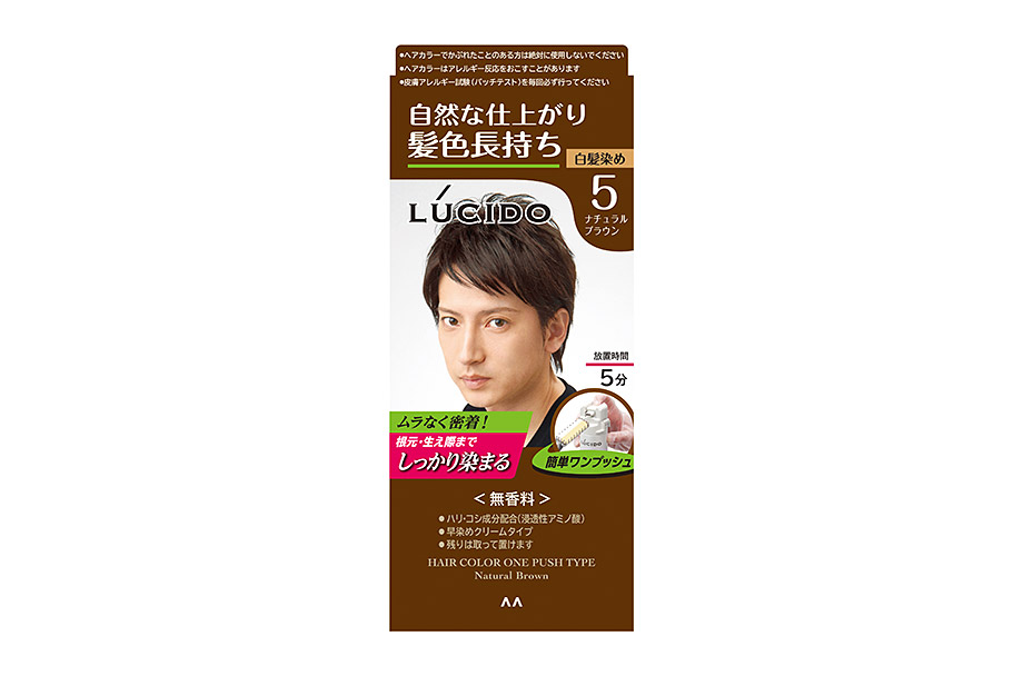Hair Color One Push Type Natural Brown  (Quasi-drug)