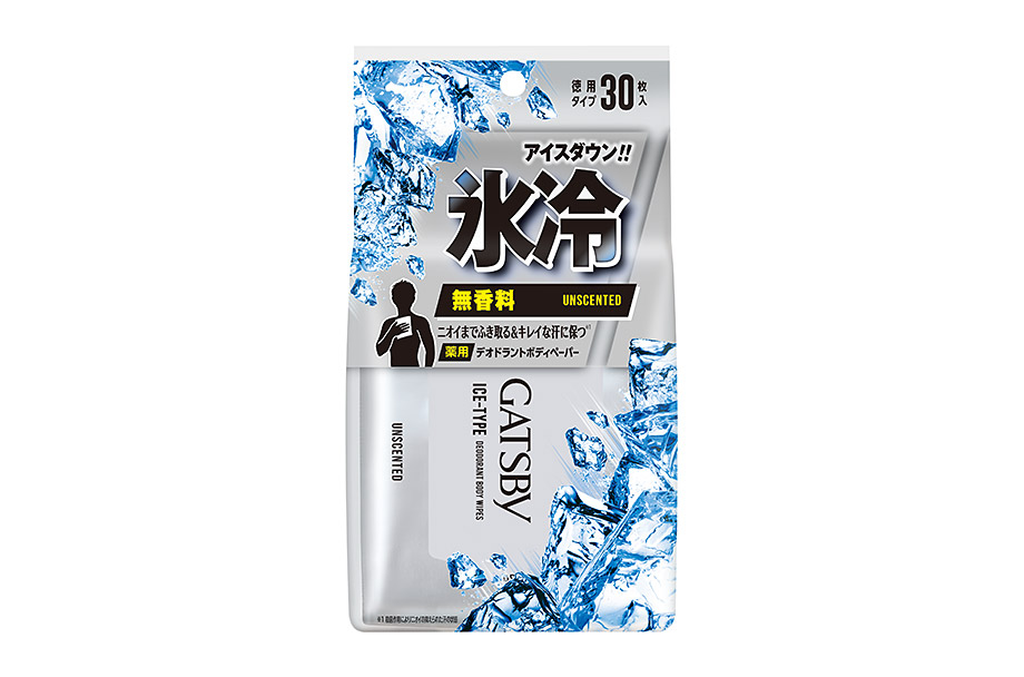 Ice-Type Deodorant Body Wipes Unscented   (Quasi-drug)